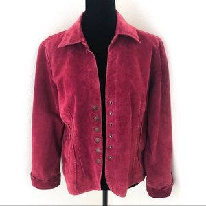 💚50%OFF AMI Maroon Suede Leather Jacket